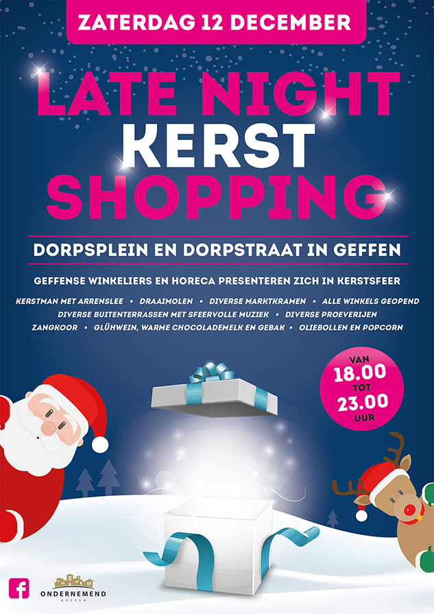 Late Night Kerst Shopping in Geffen